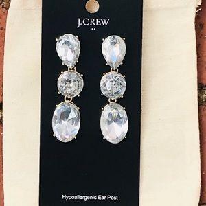 NWT J.Crew crystal earrings